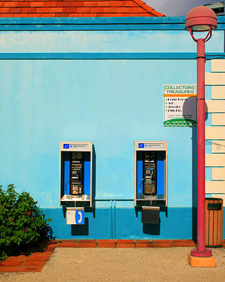 Pay Phones Art Print by Perry Webster
