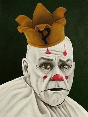 Sad Clown Painting - Payaso by SarahjewelAZ SarahjewelAZ