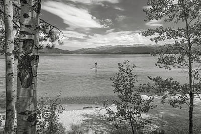 Photograph - Payette Lake Boarder by Mark Mille