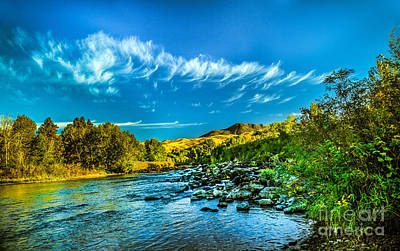 Photograph - Payette River In Hdr by Robert Bales