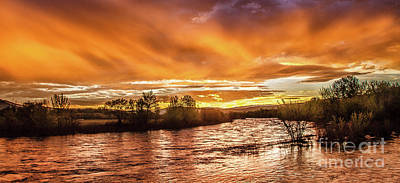 Payette River Sunrise Art Print by Robert Bales