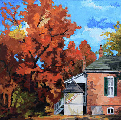Painting - Payne Gentry Home by John Lautermilch