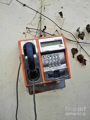 Photograph - Payphone Still Life by Erika H