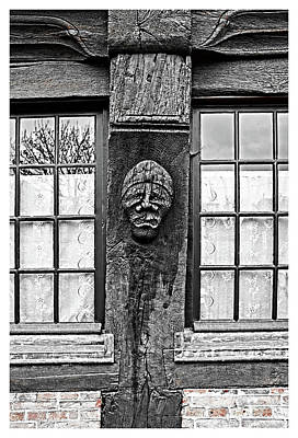 Photograph - Pays D'auge Norman Carving by Hugh Smith