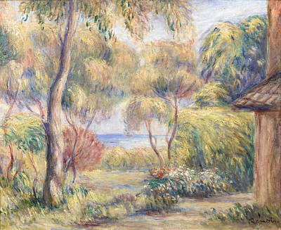 Painting - Paysage A Cagnes by Auguste Renoir