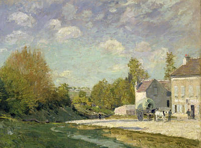 Cloudy Painting - Paysage by Alfred Sisley