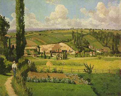 Laborer Painting - Paysage Aux Patis, Pointoise by Camille Pissarro