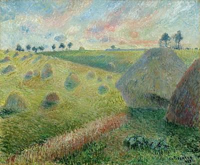 Paysage Avec Meules Art Print by Camille Pissarro