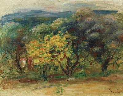 Renoir Painting - Paysage  Larbre Jaune by MotionAge Designs