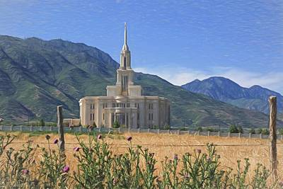 Photograph - Payson Temple by Donna Kennedy