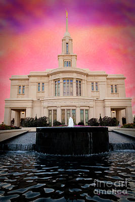 Mixed Media - Payson Temple by David Millenheft