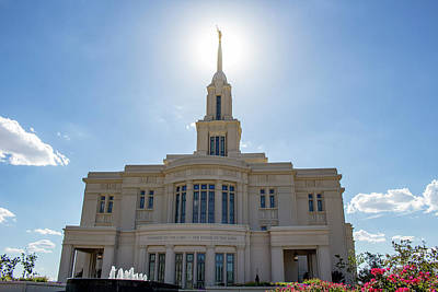 Personalized Name License Plates - Payson Temple in July by K Bradley Washburn