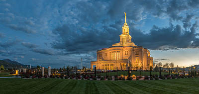 Photograph - Payson Temple Panorama by Dustin  LeFevre