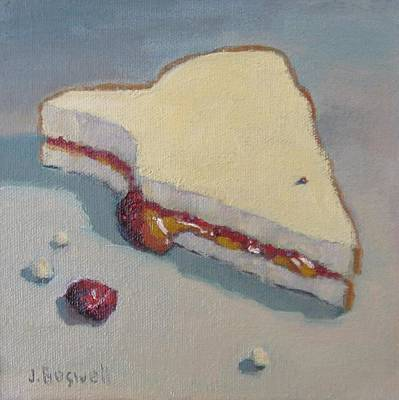 Pb And J With Cumbs Art Print by Jennifer Boswell