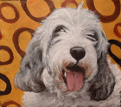 Dog Close-up Painting - Tobey  by Carol Russell