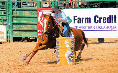 Photograph - Pbr Barrel Racing 3-d by Cheryl Poland