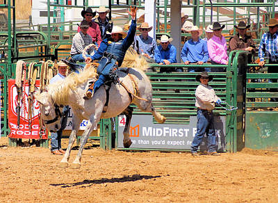Of Rodeo Events Photograph - Pbr Bucking Events by Cheryl Poland