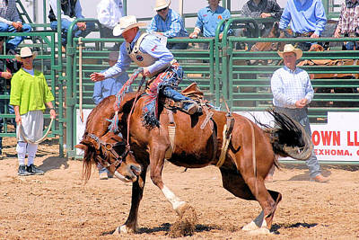 Photograph - Pbr Bucking Stock by Cheryl Poland