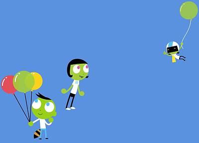 Digital Art - Pbs Kids Balloons by Pbs Kids