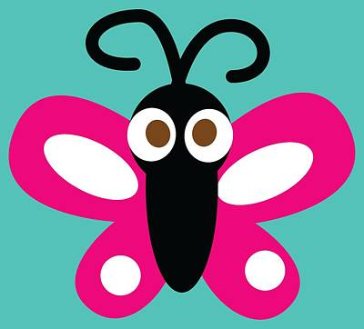 Pbs Kids Butterfly Art Print by Pbs Kids