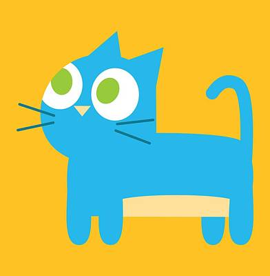 Pbs Kids Cat Art Print by Pbs Kids