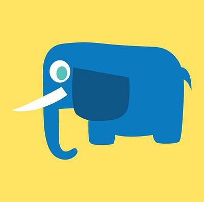 Pbs Kids Elephant Art Print by Pbs Kids