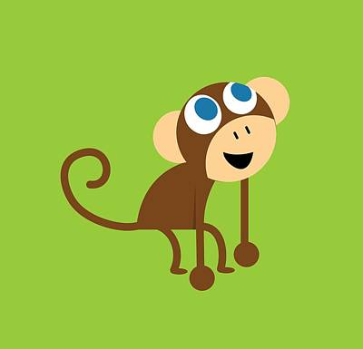 Digital Art - Pbs Kids Monkey by Pbs Kids