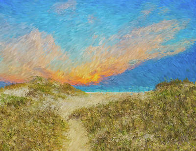 Painting - Pea Island Beach by Ches Black
