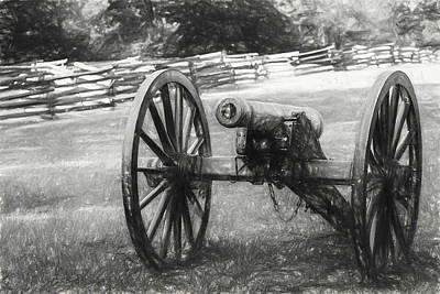 Photograph - Pea Ridge Sketch 1 Bw by James Barber