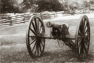 Photograph - Pea Ridge Sketch 1 Sepia by James Barber