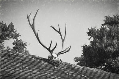 Photograph - Pea Ridge Sketch 2 Bw by James Barber