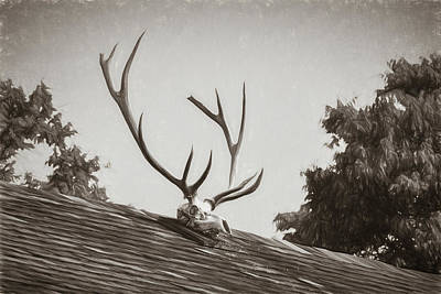 Photograph - Pea Ridge Sketch 2 Sepia by James Barber