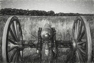 Photograph - Pea Ridge Sketch 3 Bw by James Barber