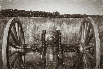 Photograph - Pea Ridge Sketch 3 Sepia by James Barber
