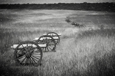 Photograph - Pea Ridge Sketch 4 Bw by James Barber