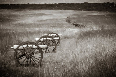 Photograph - Pea Ridge Sketch 4 Sepia by James Barber