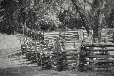 Photograph - Pea Ridge Sketch 5 Bw by James Barber