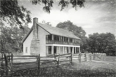 Photograph - Pea Ridge Sketch 6 Bw by James Barber