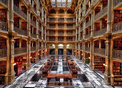 Photograph - Peabody Library - Johns Hopkins University by L O C
