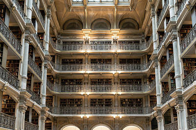 Photograph - Peabody Library by Steven Richman