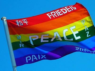 Violett Photograph - Peace - Paz - Paix by Juergen Weiss