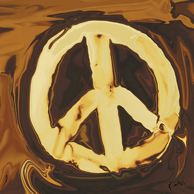 Art Print featuring the digital art Peace 2 by Rabi Khan