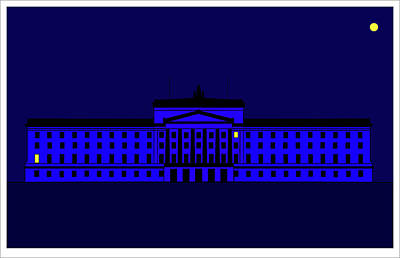 Mixed Media - Peace A Light Is Lit In Stormont by Asbjorn Lonvig