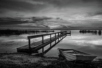 Photograph - Peace After The Rain In Black And White by Debra and Dave Vanderlaan