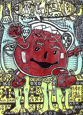 Outsider Art Mixed Media - Peace Aid by Robert Wolverton Jr