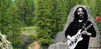 Jerry Garcia Photograph - Peace Amongst The Hills #1 by Ben Upham
