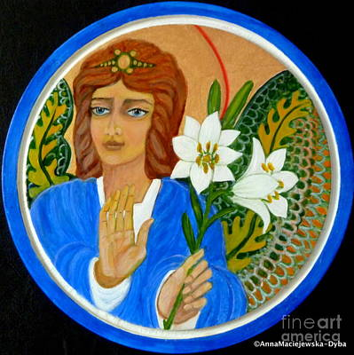 Painting - Peace And Blessing by Anna Folkartanna Maciejewska-Dyba