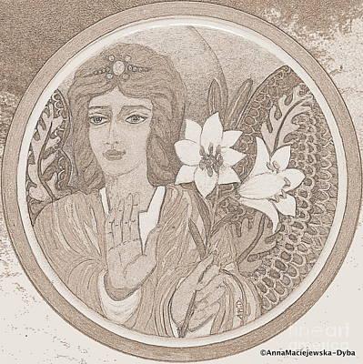Painting - Peace And Blessing Drawing by Anna Folkartanna Maciejewska-Dyba