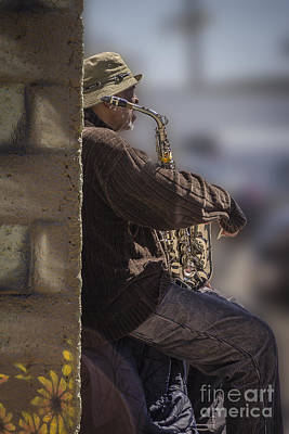 Photograph - Saxophone Jazz Man by Joann Long