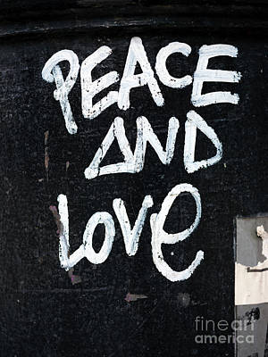 Photograph - Peace And Love by John Rizzuto